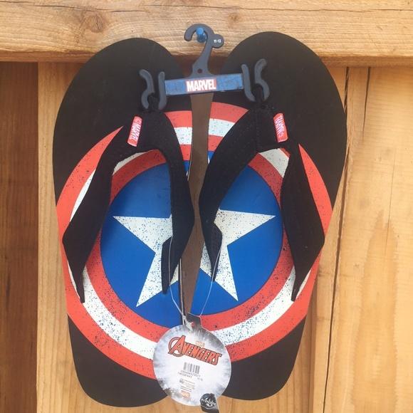 f7550ba1c0a Marvel Captain America Shield (Avenger) Flip Flops